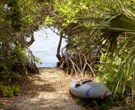 Recuo da canoa Imagem de Stock