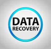 Recuperação dos dados em volta da tecla azul ilustração do vetor
