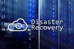 Recuperación de catástrofes Prevención de la pérdida de datos Sitio del servidor en fondo imagen de archivo libre de regalías