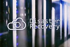 Recuperación de catástrofes Prevención de la pérdida de datos Sitio del servidor en fondo fotos de archivo libres de regalías
