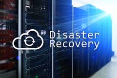 Recuperación de catástrofes Prevención de la pérdida de datos Sitio del servidor en fondo imagen de archivo