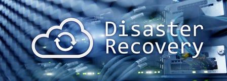 Recuperación de catástrofes Prevención de la pérdida de datos Sitio del servidor en fondo imagenes de archivo