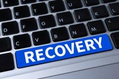 RECUPERACIÓN (datos de reserva de la restauración de la recuperación) Imágenes de archivo libres de regalías