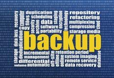 Recuperación de la copia de seguridad y de los datos Imagen de archivo libre de regalías