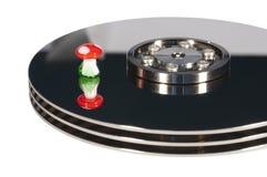 Recuperación del disco duro Foto de archivo libre de regalías