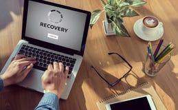 RECUPERAÇÃO (dados alternativos da restauração da recuperação) Fotos de Stock