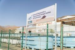 Recupero della tartaruga di mare e centro di conservazione, Morro Jable, Fuerteventura fotografia stock libera da diritti