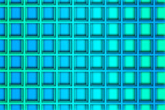 Recurrent square pattern, wallpaper, blue background. Royalty Free Stock Photos