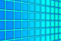 Recurrent square pattern, wallpaper, blue background. Stock Photo