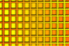 Recurrent square pattern, wallpaper, orange and yellow background. Stock Photography