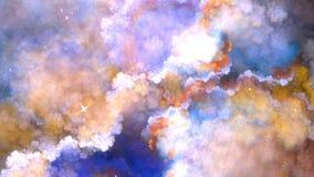 Recursive Fractal chmura Obrazy Stock