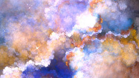 Recursive Fractal cloud. Infinite fractal linier cloud style. with stars stock images