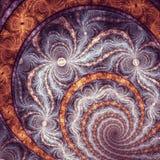 Recursive Fractal. Endless fibonacci finish fractal with high level of recursiveness stock image