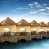 Recurso com bungalows bonitos Imagem de Stock Royalty Free