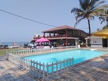 Recurso da cabana do La, Goa, ?ndia foto de stock royalty free