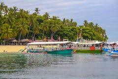 Recurso de Babu Santa Beach em Samal Fotografia de Stock