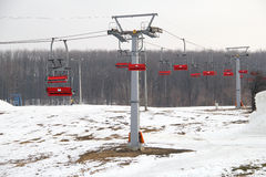 Recurso de esqui Foto de Stock