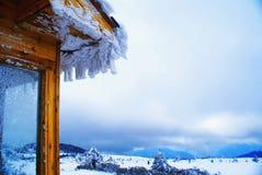 Recurso de esqui Foto de Stock Royalty Free