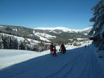 Recurso de feriado do inverno em montanhas do ¡ e de KrkonoÅ Fotografia de Stock