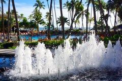 Recurso de Hilton Hawaiian Village Waikiki Beach Fotografia de Stock Royalty Free