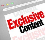Recurso de información en línea del web del sitio web contento exclusivo Restri Foto de archivo libre de regalías