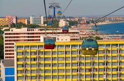 Recurso de Mamaia o Mar Negro (Romania) foto de stock