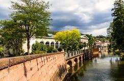 Recurso de saúde mundialmente famoso Kissingen mau em Baviera, Alemanha fotografia de stock royalty free