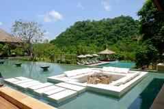 Recurso de Tailândia do hotel da construção no khaoyai fotos de stock royalty free