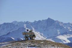 Recurso de turistas Ischgl Áustria Tirol sul Dezembro de 2013 Imagens de Stock