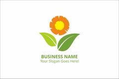 Recurso del gráfico de Logo Sun Flower Template Vector del negocio Imágenes de archivo libres de regalías