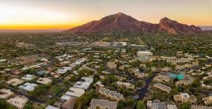 Recurso do Arizona com por do sol imagens de stock royalty free
