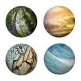 Recurso do gráfico dos globos da natureza Fotografia de Stock
