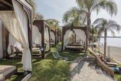 Recurso do hotel em Pefkos foto de stock royalty free