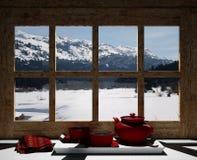 Recurso do inverno Fotografia de Stock