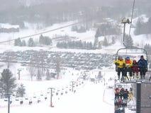Recurso do inverno do esqui Foto de Stock Royalty Free
