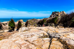 RECURSO do NE de MUI, PHAN THIET, VIETNAME - 20 de fevereiro de 2015 - vista da ilha do KE GA Foto de Stock