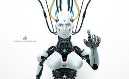 Recurso do robô da tecnologia do Ai ilustração stock