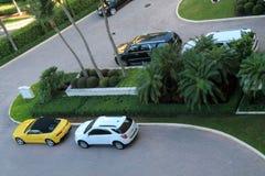 Recurso e carros de Key Biscayne Fotografia de Stock