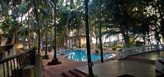 Recurso em Goa foto de stock