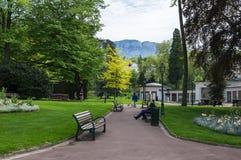 Recurso francês Aix-les-Bains Imagens de Stock Royalty Free