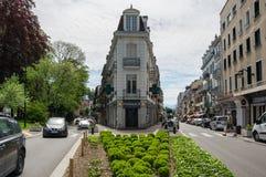 Recurso francês Aix-les-Bains Foto de Stock Royalty Free
