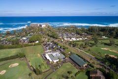 Recurso Kahuku Havaí da baía da tartaruga foto de stock