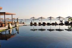 recurso luxuoso do oceano azul Imagens de Stock