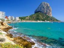 Praia em Calpe, Spain Foto de Stock Royalty Free