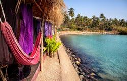 Recurso na praia de Goa fotografia de stock royalty free