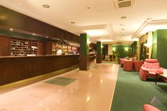 Recurso ou entrada e sala de estar do hotel Imagens de Stock