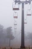 Recurso squiing nevoento Foto de Stock Royalty Free