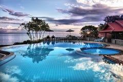 Recurso tropical. foto de stock royalty free