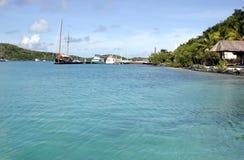 Recurso tropical idílico Fotos de Stock Royalty Free