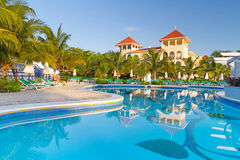 Recurso tropical luxuoso em México Fotos de Stock Royalty Free